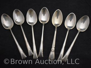 7  small Sterling silver spoons