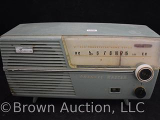 1950 60 s Channel Master all transistor home super radio  teal