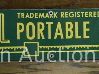 Paul Portable Scale single sided porcelain sign