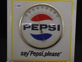Pepsi advertising thermometer  1960 s