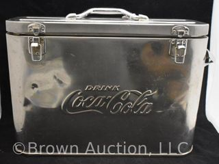 Rare Coca Cola stainless steel airline cooler