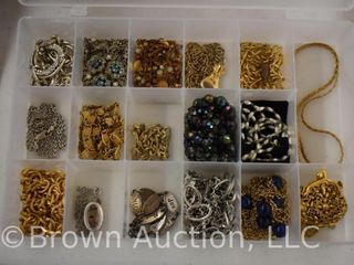 Assortment of jewelry   necklaces and bracelets