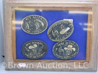 4  Well known Cowboy belt buckles