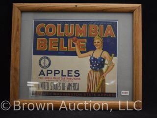 Columbia Belle Apples crate label