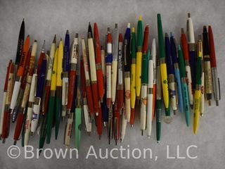 large assortment of advertising pens