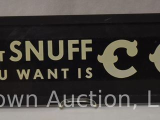 That Snuff you want is CC  sst tacker advertising sign   609
