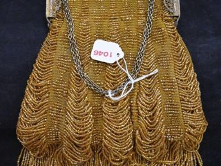 Vintage gold beaded purse