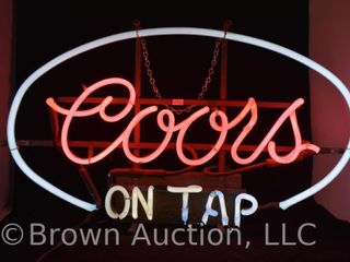 Coors on Tap neon beer sign