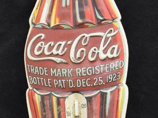Coca Cola bottle shaped 16  advertising thermometer