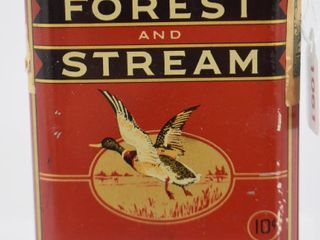 Forest and Stream pipe tobacco pocket tin