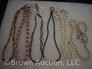 Assortment of jewelry  necklaces