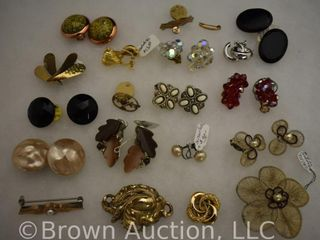 Assortment of jewelry  earrings   brooches