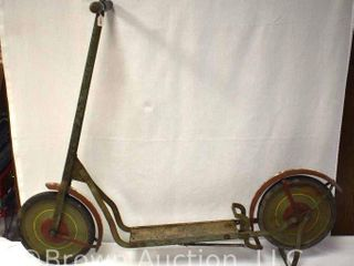 Vintage push kick toy scooter