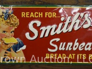 Smith s Sunbeam Bread embossed sst advertising sign