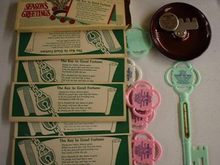 Greensburg  KS advertising thermometers and ashtray from the Pleasant View Motel