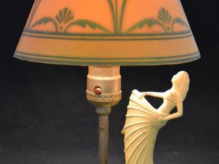 Art Deco 11  desk lamp with paper shade