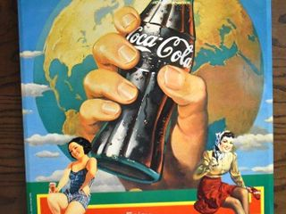 Classic Coca Cola 1982 metal advertising sign   Norman Rockwell style