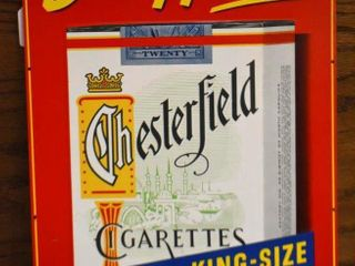 Buy Here  Chesterfield Cigarettes sst advertising sign