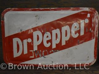 Dr  Pepper single sided tin sign