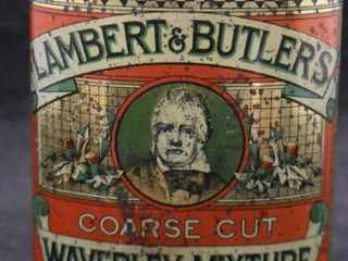 Scarce lambert and Butler s oval vertical pocket tobacco tin