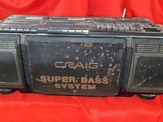 CRAIG SUPER BASS SYSTEM STEREO UNIT