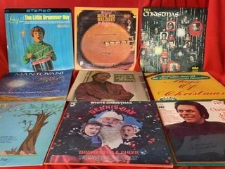 8 CHRISTMAS AlBUMS AND 1 BABYS FORST RECORD