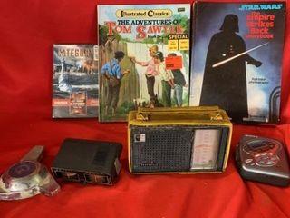BOOKS  DVD PANASONIC TRANSISTER RADIO  SONY