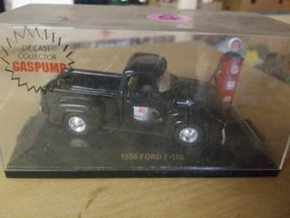 1956 FORD F   100 TRUCK AND GAS PUMP