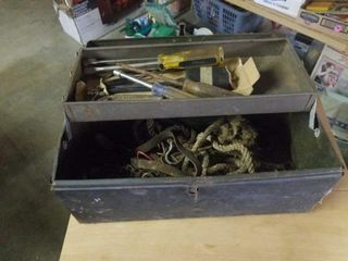 TOOl BOX WITH TOOlS AND MISCEllANOUS ITEMS