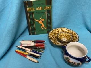 DICK AND JANE BOOK  COllECTIBlE PINS  PlANTER