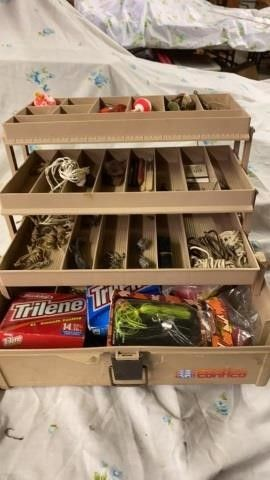 CONTICO TACKlE BOX WITH FISHING GOODS
