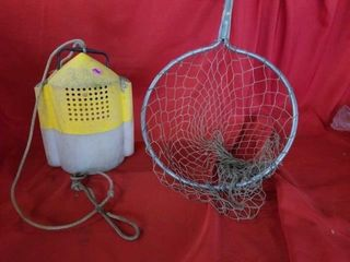 FISH NET AND MINNOW BUCKET