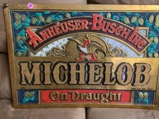 ANHEUSER BUSCH MICHElOB ON DRAUGHT SIGN