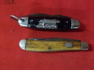 CAMP KING MUlTI BlADE POCKET KNIFE AND A DOUBlE