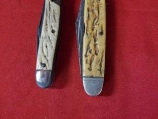 2 POCKET KNIVES WITH MUlTIPlE BlADES