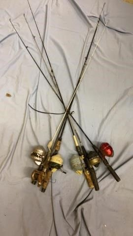 6 REElS AND 6 FISHING POlES