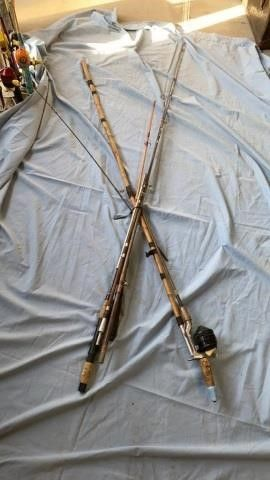 1 COMPlETE FISHING ROD AND REEl AND PIECES OR