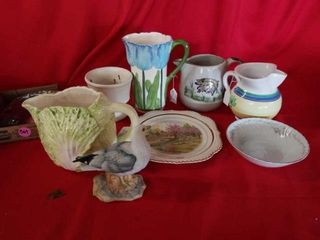 TUlUP HAND PAINTED PITCHER  HAND PAINTED SMAll