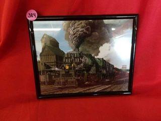BURlINGTON NORTHERN ENGINE TRAIN PICTURE