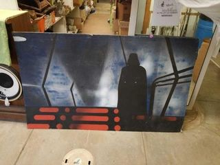 4  X 8  DARTH VADER FROM STAR WARS PAINTING ON