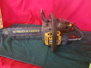 14  MCCUllOCH CHAINSAW  PUllS FREE