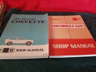 1981 CHEVROlET CHEVETTE MANUAl AND CHEVROlET lUV