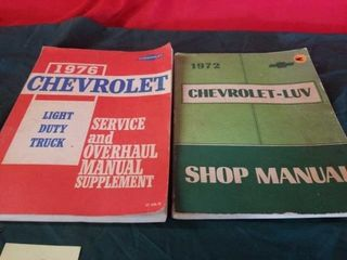 1976 CHEVROlET lIGHT DUTY TRUCK MANUAl AND 1972