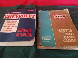 1973 CHEVROlET SERVICE MANUAl AND 1973 TEXACO CAR