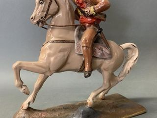Spelter Type Cast Horse and Rider 10