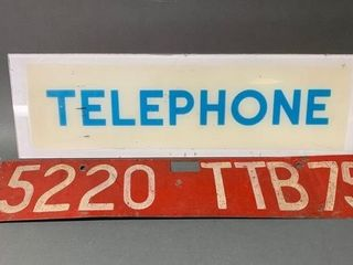 Vintage Telephone and Telegraph Signs