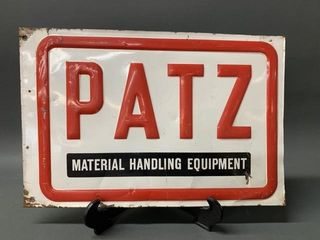 Tin Type Early Patz Advertising Sign