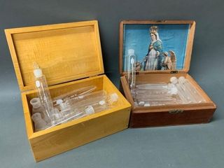 Pyrex Glass Medial lab Testing Tubes and Boxes