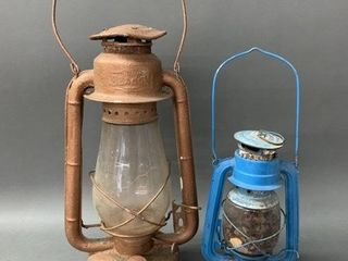 Pair of Early Oil lanterns