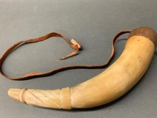 Old Powder Horn with leather Strap